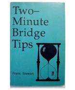 Two-Minute Bridge Tips by Frank Stewart (1995, Hardc... - $7.69