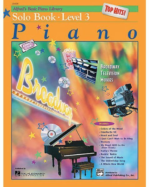 Alfred's Basic Piano Course - TOP HITS!  Solo Book (Level 3):