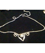 Rhinestone Necklace Vintage  - $37.39