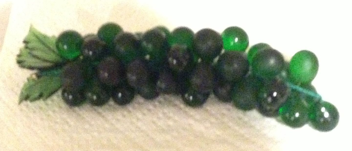 Murano Glass Grapes XL Cluster of dark green