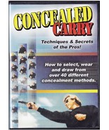 CONCEALLED CARRY Techniques & Secrets of the Pros DVD - $19.99