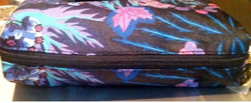 Estee Lauder Black. Pink, Green, Blue, Purple Print Cosmetic Bag