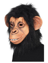 Adult Mens Novelty Funny Chimpanzee Stag Hen Night Fancy Dress Animal Mask - $36.09