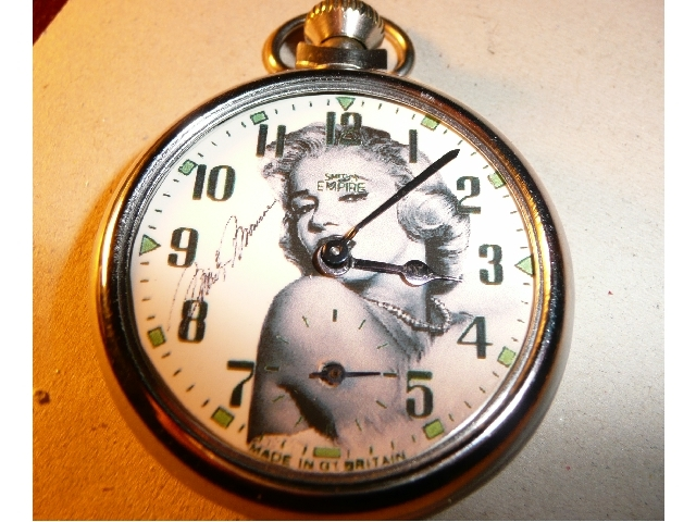 Old Marilyn Monroe Picture Dial pocket watch