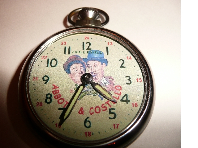 Old Abbott & Costello Picture Dial pocket watch