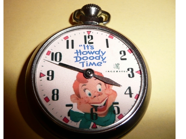 Old Howdy Doody Time character pocket watch
