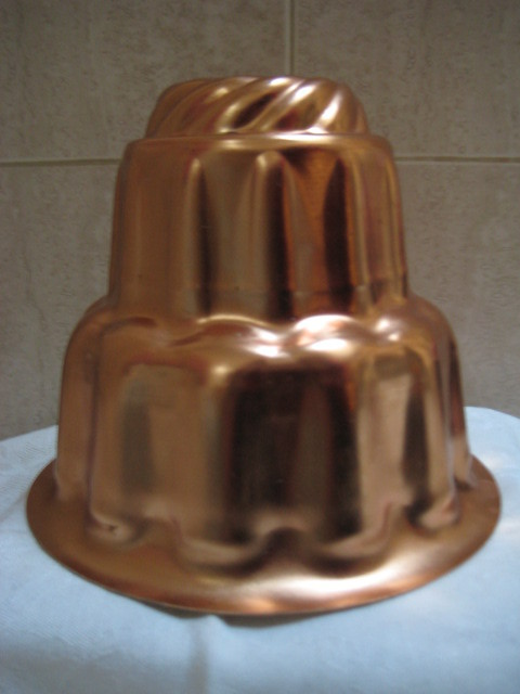 Vintage All Copper Food Mold 3 Tier 6 Cups