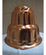 Vintage All Copper Food Mold 3 Tier 6 Cups  - $7.99