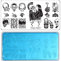 The New Halloween Hip-Hop Punk Nail Print Template with White Back Card - $15.00