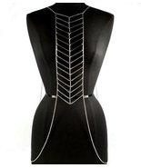 Body Chain Chevron Geometric Design Armor Silve... - $22.99