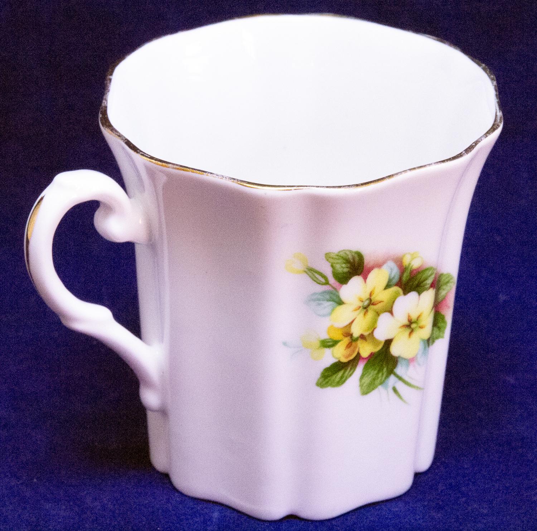 Beautiful Small Royal Grafton Coffee Mug, Made In England, Floral Design