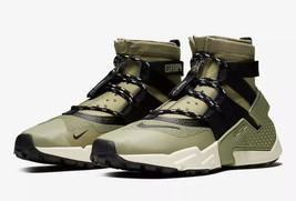 New Nike Air Huarache Gripp Shoes Olive/Black/Light Cream Men's SZ 11 - $90.94