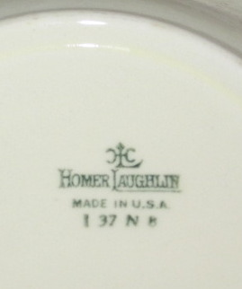 Homer Laughlin Serving Bowl - 1937 - For Woolworth's