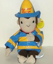 1/2 Price! Curious George Monkey Blue Yellow Rain Coat Hat NWT Toy Network - $7.00