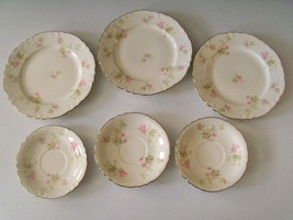 Homer Laughlin Maple Leaf 3 Salad Plates & 3 Saucers - $34.99