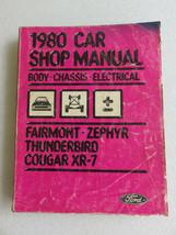 1980 Ford Fairmont Zephyr Thunderbird XR-7 Service Repair Manual Factory... - $8.92