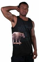 Dissizit Cali Crucero Oso En Skateboard Blanco o Negro Tanque Camiseta Hecho USA