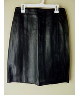 Petite Sophisticate Black Leather Skirt Size 4 NEW - $44.05