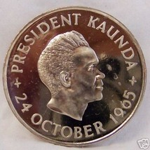 ZAMBIA 5 SH 1965 INDEPENDENCE LIMITED CU-NI PROOF COIN - $27.43