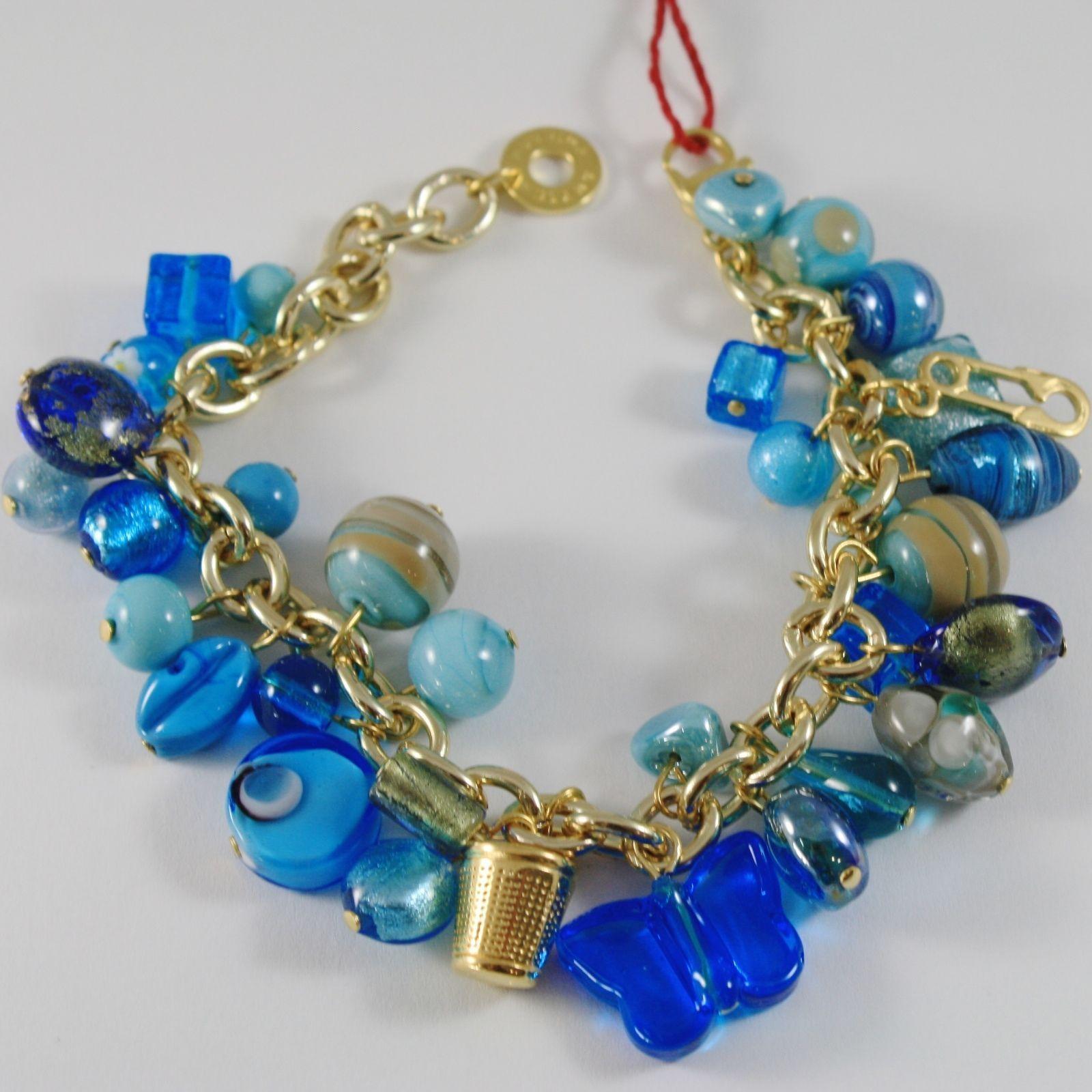BRACELET ANTICA MURRINA VENEZIA WITH MURANO GLASS WITH CHARMS BLUE BR291A07