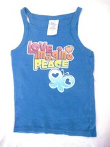 Girls S 6  6X   Love Graphic Blue Tank Top Sun Top Faded Glory - $5.48