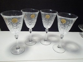 4 CRISTAL d'ARQUES CHESNAY WINE / WATER GOBLETS - $19.99