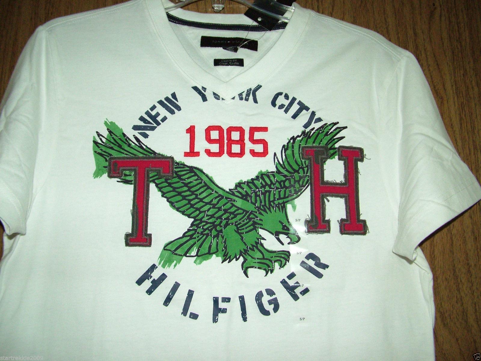 Tommy Hilfiger Eagle/Logo Mens Tshirt, White Color, Sz.Small. NWT.100% Authentic
