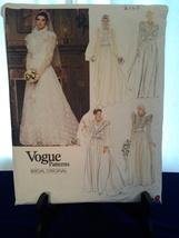 Vogue 2864 Patterns Bridal Original 1990's Size 12, Victorian Style, Unc... - $13.99