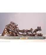 """""""Stagecoach"""" Pure Bronze Collectible Sculpture Statue by C.M. Russell Large - $4,770.00"""