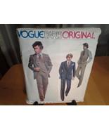 Vogue 2112 Paris Original Givenchy Suit SZ 44 Factory Folded, UnCut, Dat... - $24.99