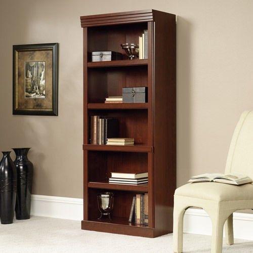 Cherry 5 Bookcase Bookshelf Furniture Decor Display Study Adjustable Shelves New