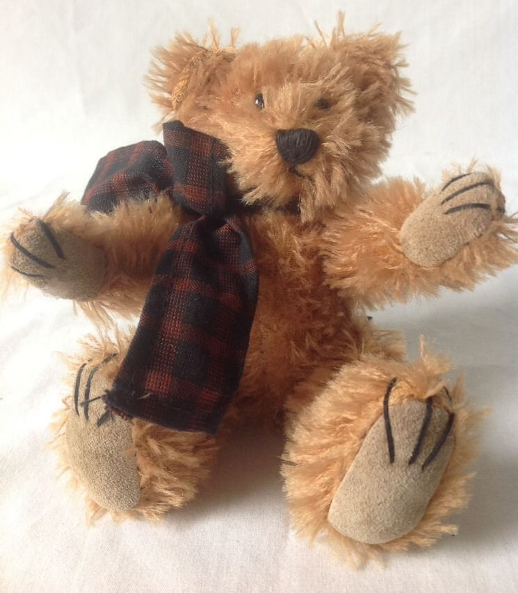 "Vintage 1997 Boyds Mohair Bear Collection Jointed 7"" Tall"