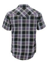 Men's Western Short Sleeve Button Down Casual Plaid Pearl Snap Cowboy Shirt image 4