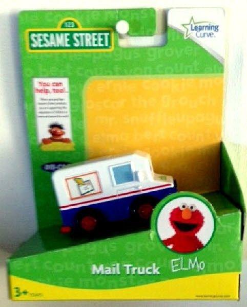 Sesame Street Elmo Mail Truck Diecast Learning Curve 3+ 2010