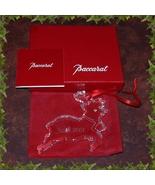 BACCARAT 2001 ANNUAL NOEL REINDEER ORNAMENT  - $39.99