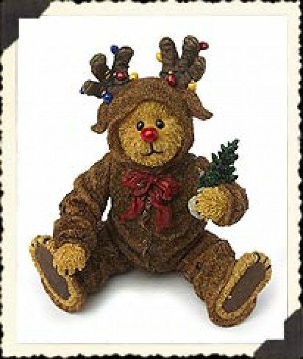 "Boyds Shoe Box Bear ""Rudy Reinbeary"" 4.5"" Reinbear - #3246-  NIB- 2003 -Retired"