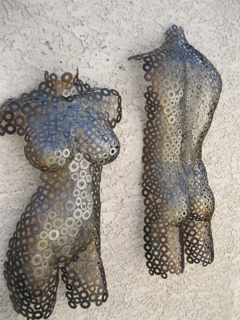 New Abstract Wall Art  Metal Sculpture Nude  Torso