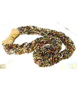 Vintage Multi Color Glass Bead Long Torsade Nec... - $40.00
