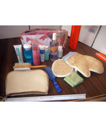 14 items New mixed Cosmetics lot w/2 bags & bath, personal sexy various ... - $12.98