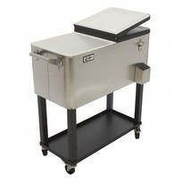 Ice Chest Patio Deck Stainless Beer Cooler Soda Pop Outdoor party cold c... - £203.24 GBP
