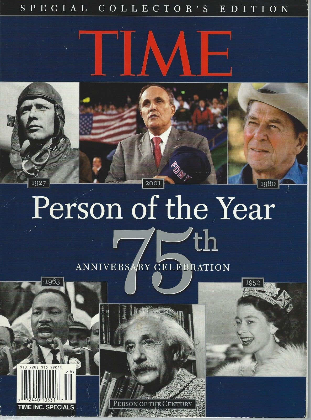 Time Person of The Year 75th Anniversary Celebration 1927-2001;Cover Stories