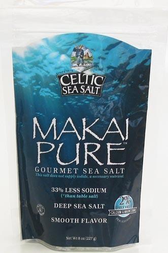 CELTIC SEA SALT ~ MAKAI PURE DEEP SEA SALT SMOOTH FLAVOR 8 OZ BAG