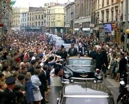 President John F. Kennedy's motorcade through Cork Ireland 1963 New 8x10... - $8.81