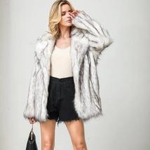 Women's Winter Luxury Fashion Faux Fur Coat image 6