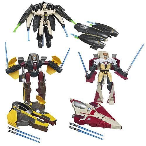 Star Wars Obi-Wan Kenobi to Jedi Starfighter Mini Transformers