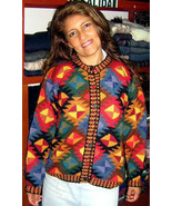 Colorful cardigan, jacket made of  Babyalpaca wool - $175.00