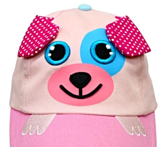 Sweet Little Girls Baseball Hat Cap Pink Puppy Sunhat MSRP $30.00 SAVE $10.00