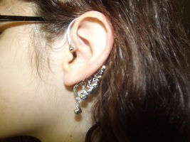 Gypsy Bells Ear Cuff - Silver - $15.99