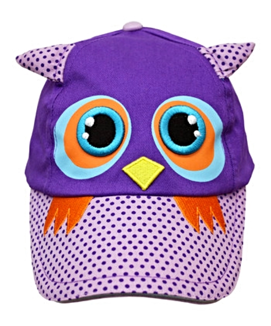Purple Owl Little Girls Baseball Hat Cap Sunhats Gift MSRP $30.00 SAVE $10