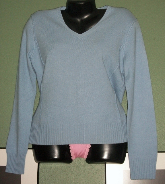 Primary image for PRIVE V Neck Super Soft CASHMERE Sweater Sz Lrg NWOT